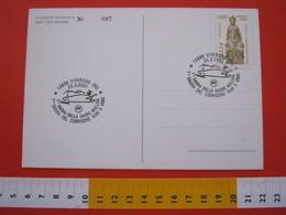 A.04 ITALIA ANNULLO - 2001 VIVERONE BIELLA SAGRA DEL COREGONE KIWI E VINO BARCA VELA LAGO LAKE BIELLESE - Pesci