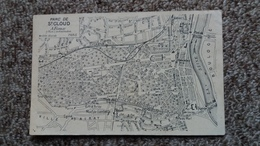 CPA PLAN GEOGRAPHIQUE DU PARC DE SAINT CLOUD  A FIEUX - Cartes Géographiques