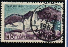 """SITES ET MONUMENTS - 15c  """"Saint-Paul-de-Vence""""   N° 1311 8Obl. - France"""