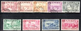 ETP73 - ETIOPIA 1952 , Yvert  N 315/323  Usata - Ethiopia