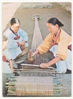 COREE WOMEN AT THE LOOM - Corea Del Sud