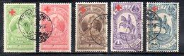 ETP74 - ETIOPIA 1936 , Yvert  N 209/213  Usata  CROCE ROSSA - Ethiopia