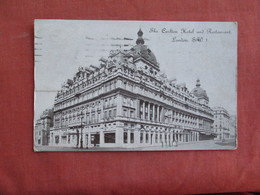United Kingdom > England > London  Carlton Hotel & Restaurant Has Stamp & Cancel  Ref 3098 - London