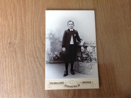 Photo Sur Carton En Studio Mons - Guerre 1914-18