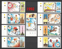 MONGOLIA 1992 !!   Summer Olympics 1992, Barcelona ** RARE !! ** Michel: 2424 - 2432    MONGOLEI ** MNH ** - Mongolie