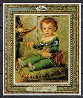 "Kind & Jugend  "" Annee Internationale De L` Enfant 1979 "" , Niue , 4 Blöcke Mit Gemälden  Postfr. / MNH / Neuf - Niue"