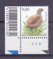 Belgie - 2005 - OBP - ** 3381 PL 3 - Patrijs - A.Buzin ** - 1985-.. Oiseaux (Buzin)