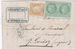 LAC - COMPOS GC De St-AFFRIQUE / 12 MAI 73 - Marcophilie (Lettres)