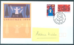 AUSTRALIA  - FDC - 1.11.1999 - CHRISTMAS - Yv 1781-1782 - Lot 18620 - Premiers Jours (FDC)