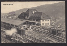 Gare De Vallorbe - Bahnhof - Train à Vapeur - Dampflok - 1924 - VD Vaud