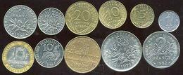 LOT Nos FRANCS La Série De 11 Pieces - Monnaies & Billets
