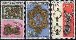 Czechoslovakia 1969 3 V  Used Archeology - Archéologie
