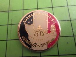 513J Pins Pin's / Rare & De Belle Qualité  THEME : MILITARIA / DEBARQUEMENT NORMANDIE 1944 D-DAY 50e ANNIVERSAIRE - Army