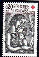 """CROIX ROUGE - 20c+10c  """"Oeuvre De Rouault  N° 1323 Obl. - France"""