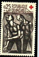 """CROIX ROUGE - 25c+10c  """"Oeuvre De Rouault  N° 1323 Obl. - France"""