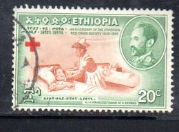 ETP77B - ETIOPIA 1955 , Yvert  N 331 Usato  CROCE ROSSA - Ethiopia