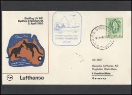 GERMANY Deutschland D BRD Brief LH 001 First Flight Sydney-Frankfurt LUFTHANSA - BRD