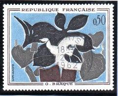 """OEUVRES D'ART - 50c  """"Le Messager De Braque""""  N° 1319 Obl. - France"""
