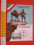 A.04 ITALIA ANNULLO - 2008 BIELLA 40 ANNI FINE GRANDE GUERRA MEDAGLIA ORO COSTANTINO CROSA FANTERIA WAR MAXIMUM - Storia