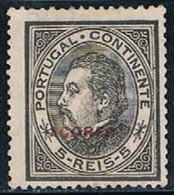 Açores, 1882, # 47 Dent. 13 1/2, Papel Liso, MNG - Azoren