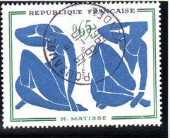 """OEUVRES D'ART - 65c  """"Les Nus Bleus, D'Henri Matisse""""  N° 1320 Obl. - France"""