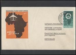 GERMANY Deutschland D BRD Brief LH 006 First Flight West Africa Nigeria LUFTHANSA - BRD