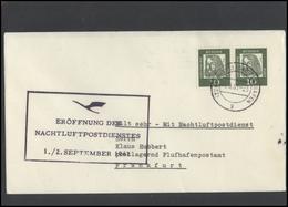 GERMANY Deutschland D BRD Brief LH 007 Night Air Mail Service LUFTHANSA - BRD