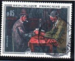 """OEUVRES D'ART - 85c  """"Les Joueurs De Carte, Fde Paul Cézanne""""  N° 1321 Obl. - France"""