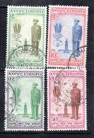 ETP80A - ETIOPIA 1955 , Yvert  N 339/342 Usato  ADDIS ABEBA - Etiopia