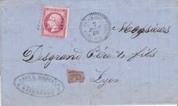 LAC - N°24 OBL. GC De SALONIQUE / 7 AOUT 66 - Marcophilie (Lettres)