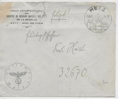 1940 - LETTRE FM FELDPOST De L'ARMEE ALLEMANDE à METZ (MOSELLE) => LE SECTEUR 32670 - Postmark Collection (Covers)