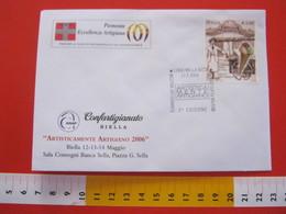 A.04 ITALIA ANNULLO - 2006 BIELLA ARTIGIANO ARTIGIANATO GELATO ICE CREAM ALIMENTAZIONE - Ernährung