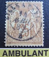 R1680/220 - SAGE N°92a - ➤➤➤ CàD AMBULANT De LILLE à PARIS (B) 14 AVRIL 1880 - 1876-1898 Sage (Type II)