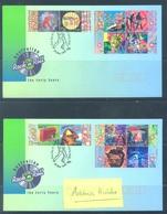 AUSTRALIA  - FDC - 26.5.1998 - ROCK'N ROLL - Yv 1671-1682 - Lot 18621 - Premiers Jours (FDC)