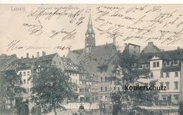 AK Leipzig, Blick Nach Der Mathäikirche - Leipzig