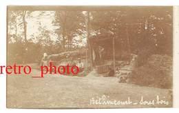 Photo Guerre 14 / 18 -  Béthincourt ( Meuse ), Sous-bois ( Soldats ) - Guerre, Militaire
