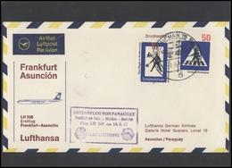 GERMANY Deutschland D BRD Brief LH 012 First Flight To Paraguay Asuncion LUFTHANSA - BRD