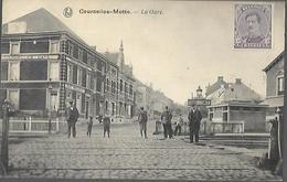 BELGIQUE    Courcelles  Motte La Gare     édition Albert Lemaître     CPA 1920 - Courcelles