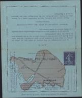 Entier Carte Lettre Pneumatique De Marseille Neuve 30ct Violet Sur Papier Bleu Illustré Plan Marseille Storch K7 - Enteros Postales