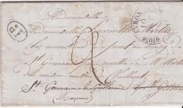 LAC - EVRON / 10 0CT 1843 - Marcophilie (Lettres)