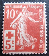 R1680/222 - 1914 - TYPE SEMEUSE - CROIX ROUGE - N°147 NEUF* - Cote : 40,00 € - France