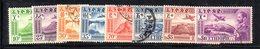 ETP82 - ETIOPIA , Posta Aerea Gli Otto Valori Emessi Nel 1947 Usati - Etiopia