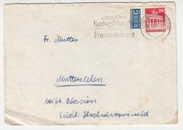 Berlin Notopfer Imperforated Stamp On Letter Cover Travelled 1948 Münster - Slogan Postmark B181215 - Non Classés