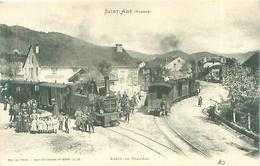 Top Cpa -  Saint Amé - Arrêt Du Tramway    ,   Animée              N631 - France