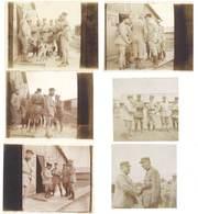 6 Photos Guerre 14 / 18 - Soldats Gradés - Guerre, Militaire