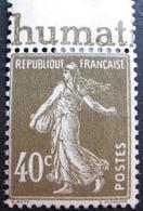R1680/224 - 1924 - TYPE SEMEUSE - N°193a NEUF(*) - France