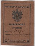 Passeport Exclusion Liban Syrie Consulat De Monaco 1934 - Historical Documents
