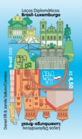 Brazil Stamps 2018 Luxembourg Flag Archictecture Brasilia - Brazil