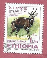 ETIOPIA USATO - 2002 - Menelik's Bushbuck (Tragelaphus Scriptus Meneliki) - 1 Br - Michel ET 1770 - Ethiopia