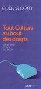 Marque Page °° Cultura - Tout Cultura Au Bout Des Doigts - 10x21 - Marque-Pages